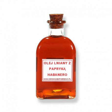 Olej lniany z papryką habanero
